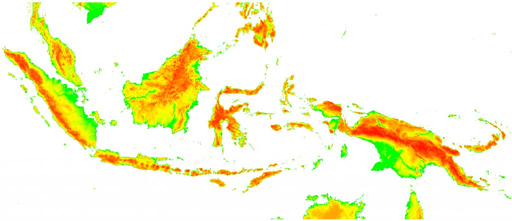 PCRaster Modflow groundwater model of Indonesia